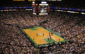 Celtics in a game versus the Miami Heat at the TD Banknorth Garden in April 2006