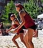 NCAA sand volleyball match at FSU, April 2013 (8667275340).jpg