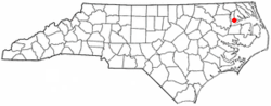 Location of Edenton, North Carolina