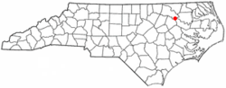 Location of Hobgood, North Carolina