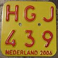 NETHERLANDS 2006 -SCOOTER PLATE - Flickr - woody1778a.jpg