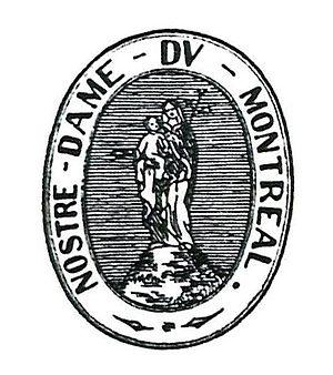 Paul de Chomedey, Sieur de Maisonneuve - Image: NOSTRE DAME DV MONTREAL