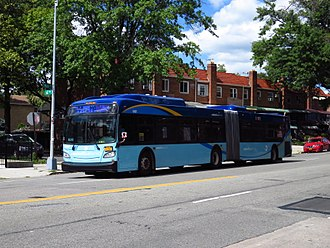 Main Street (Queens) - A Q44 Select Bus Service bus at Main Street and 62nd Road in Flushing