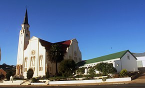 The NG Kerk (Dutch reformed church) on the main street of Napier