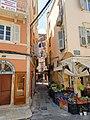 Narrow street in the old town of Corfu, Greece (32926529287).jpg