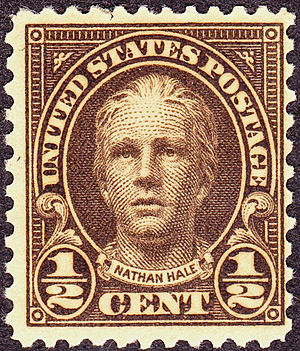 US Regular Issues of 1922–31 - Nathan Hale