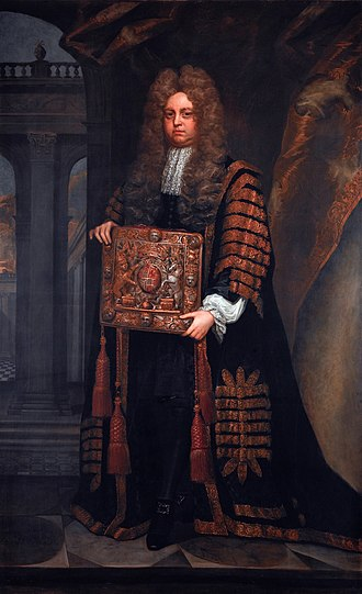 Nathan Wright (judge) - Nathan Wright, 1700 portrait by A. Grace.