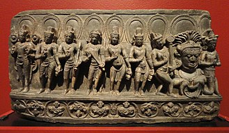 Navagraha - Image: Navagraha (anthropomorphic forms of astronomical bodies), Bihar, India, 10th century AD, schist San Diego Museum of Art DSC06389