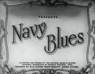 Navy Blues (1937 film) - Image: Navy Blues 1937titlecard