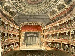 The auditorium of the second theatre shortly after opening.