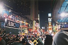 abc news presence at times square for abc 2000 today