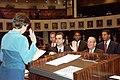 Newly elected Senator Alex Diaz de la Portilla being sworn into office by Secretary of the Senate Faye W. Blanton.jpg