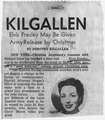 Newspaper clipping (newspaper and date not shown - presumably late 1959) indicating that Elvis Presley will receive a... - NARA - 299790.tif