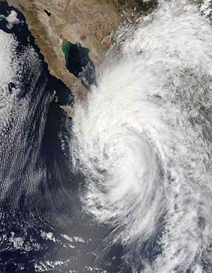 Hurricane Newton (2016) - Hurricane Newton over the Baja California Peninsula on September 6