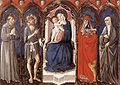 Niccolo di Liberatore Virgen y niño con cuatro santos 1468 GN arte antica roma.jpg