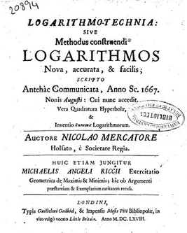 Nicolaus Mercator Logarithmotechnia.png