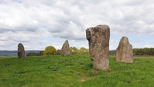 Nine Stones Close stone circle on Harthill Moor