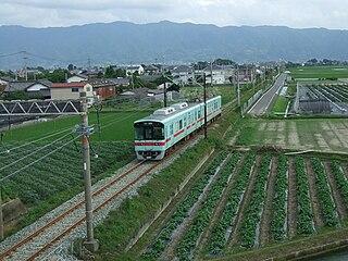 Nishitetsu Amagi Line railway line in Fukuoka prefecture, Japan