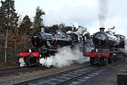 No.63601 LNER 2-8-0 Class O4 (previously GCR Class 8K) & no.78019 BR Standard Class 2 2-6-0 (6778905293).jpg