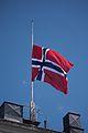 Norsk flagg på Egertorget - Norwegian flag Egertorget.jpg