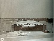 North American O-47 - 105th Observation Squadron hangar at Berry Field