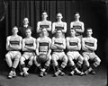 North Carolina State University (NC A&M College) basketball team, 1915, Raleigh, NC. Original glass plate negative is from the J. C. Knowles Collection, PhC.182, State Archives of North Carolina. (8721753322).jpg