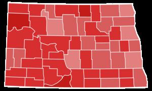 United States Senate election in North Dakota, 1952 - Image: North Dakota Senate Election Results by County, 1952