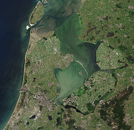 Sentinel-2 photo of the IJsselmeer and surroundings. North Holland with parts of Friesland and Flevoland by Sentinel-2.jpg