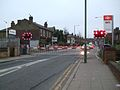 North Sheen stn level crossing look south.JPG