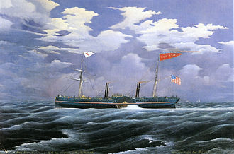 Steam yacht - Cornelius Vanderbilt's North Star steam yacht (1852)