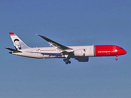 Een Boeing 787-9 van Norwegian Long Haul