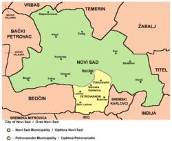mapa novog sada i okoline Novi Sad   Wikipedia mapa novog sada i okoline