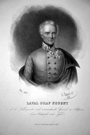 Laval Nugent von Westmeath - Laval Graf Nugent, Lithography by Eduard Kaiser, 1848