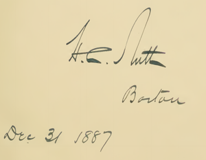 Nutt, New Mexico - Signature of H.C. Nutt