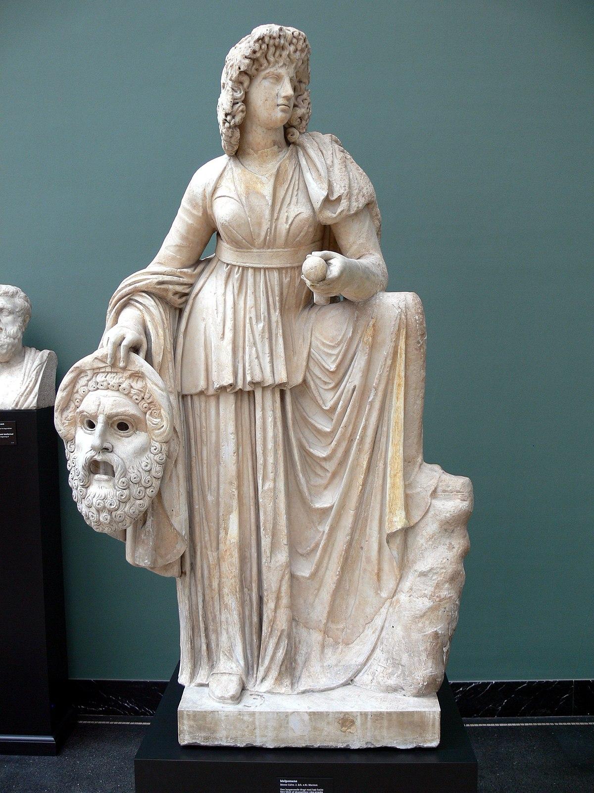 Statue of Melpomene. Rome, Vatican Museums, Pius-Clementine Museum ...