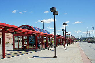 Ottawa Rapid Transit - St. Laurent Station: a typical Transitway station