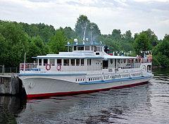 Річковий транспорт Вікіпедія Річкове пасажирске судно тип ОМ канал Москва Волга