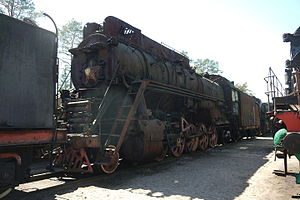 Russian locomotive class LV - OR18-01 at Lebyazhye Railway Museum, Lebyazhye, Lomonosovsky District, Leningrad Oblast, Russia
