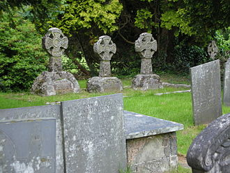 St Twrog's Church, Maentwrog - Oakeley Celtic Crosses in St. Twrog's Church, Maentwrog