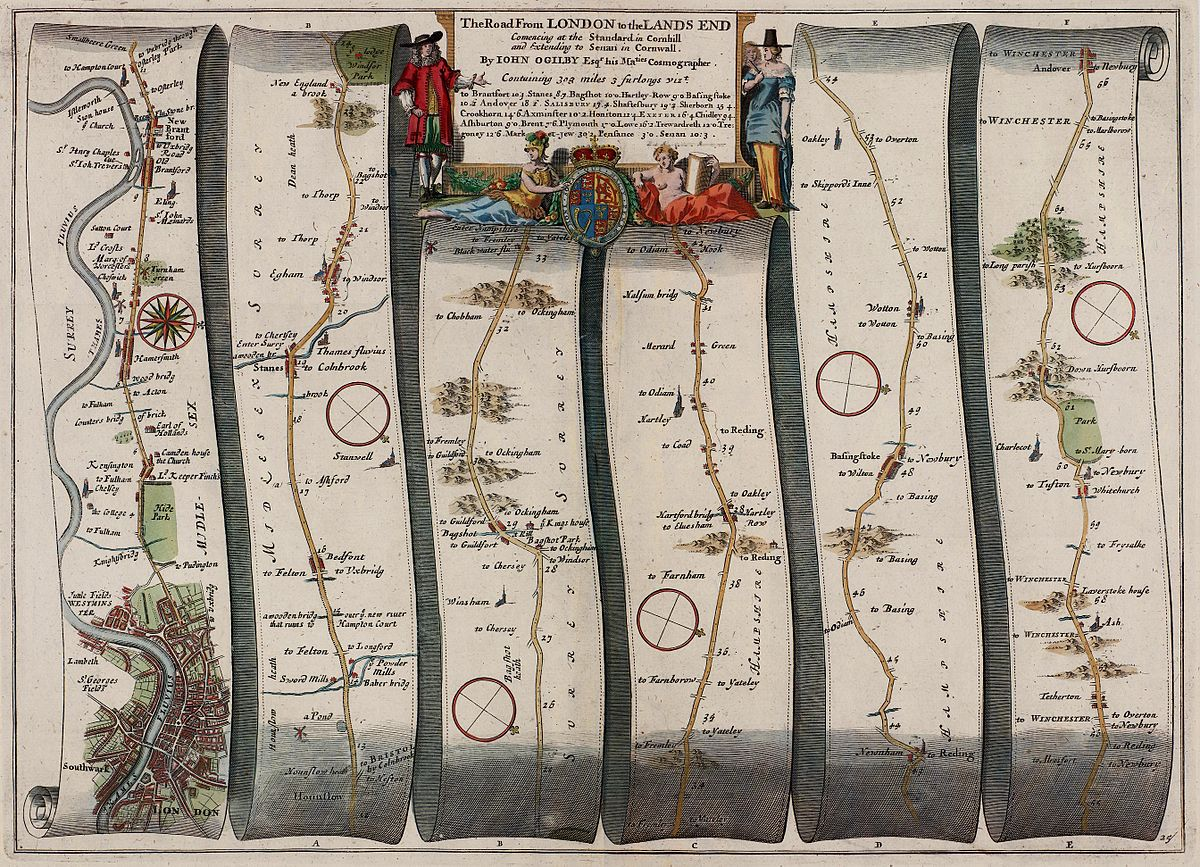 Ogilby - The Road From LONDON to the LANDS END (1675).jpg
