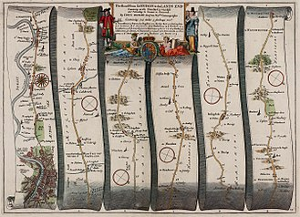 A30 road - The Road from LONDON to the LANDS END (1675), John Ogilby