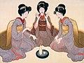 Okamoto Shinsō Drei Maiko, die Ken spielen.jpg
