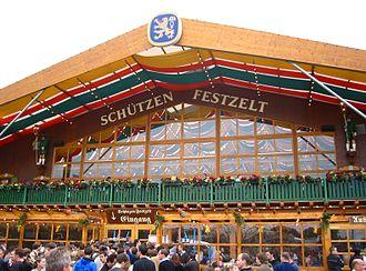 Löwenbräu - The Schützenfestzelt tent at Oktoberfest 2005
