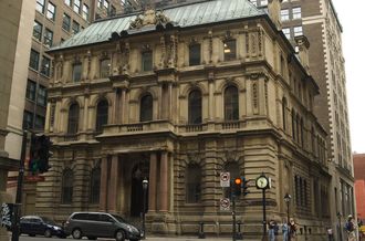 Molson Bank Building, Montreal - The Molson Bank building on Saint Jacques Street in Old Montreal.