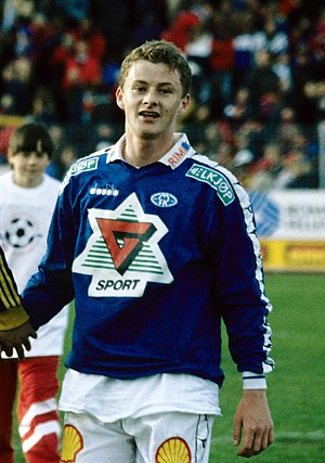 Ole Gunnar Solskjær - Solskjær after a game for Molde FK in 1996