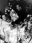 Olivia de Havilland and Pierre Galante with Child 1956.jpg