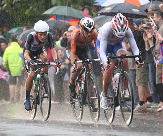 Road bicycle racing - Image: Olympic Road Race Womens winners, London July 2012
