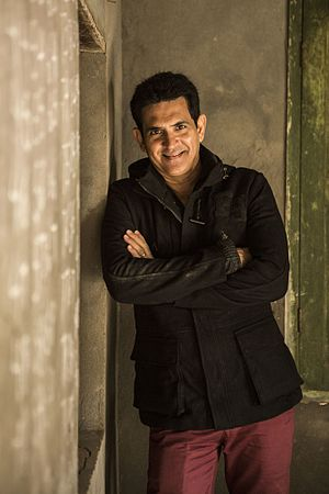 Omung Kumar - Image: Omung Kumar on the sets of Sarbjit