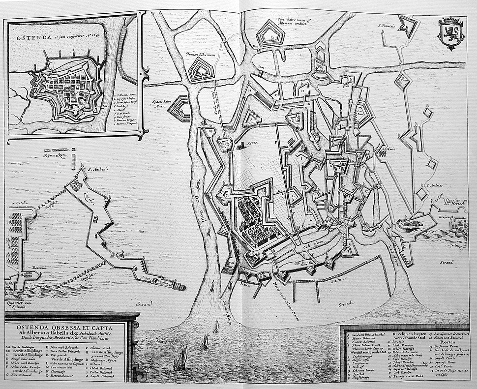 Oostende - Sanderus 1641