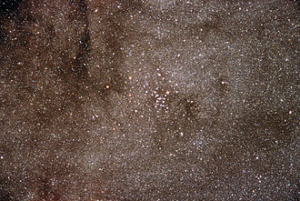Messier 7 - Broader view of M7, the cluster is at the center of this photograph.